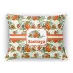 Pumpkins Rectangular Throw Pillow Case (Personalized)