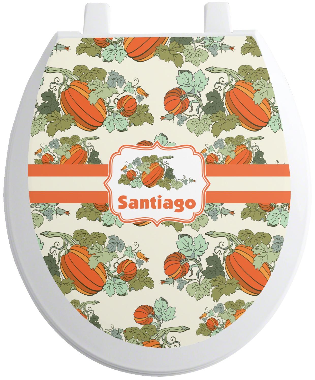 Magnificent Pumpkins Toilet Seat Decal Personalized Lamtechconsult Wood Chair Design Ideas Lamtechconsultcom
