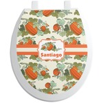 Pumpkins Toilet Seat Decal (Personalized)