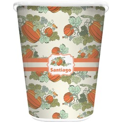 Pumpkins Waste Basket - Double Sided (White) (Personalized)