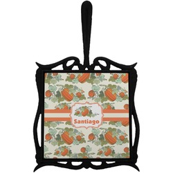 Pumpkins Trivet with Handle (Personalized)