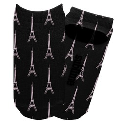Black Eiffel Tower Adult Ankle Socks (Personalized)