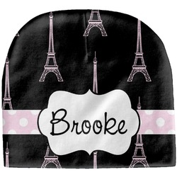 Black Eiffel Tower Baby Hat (Beanie) (Personalized)