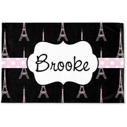Black Eiffel Tower Woven Mat (Personalized)