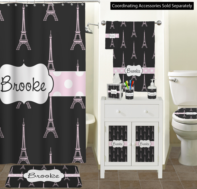 Black Eiffel Tower Bathroom Accessories