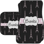 Black Eiffel Tower Car Floor Mats (Personalized)
