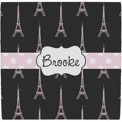 Black Eiffel Tower Ceramic Tile Hot Pad (Personalized)