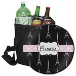 Black Eiffel Tower Collapsible Cooler & Seat (Personalized)