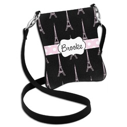 Black Eiffel Tower Cross Body Bag - 2 Sizes (Personalized)