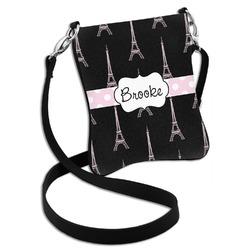 Black Eiffel Tower Cross Body Bag - 2 Sizes (Personalized)