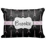 "Black Eiffel Tower Decorative Baby Pillowcase - 16""x12"" (Personalized)"
