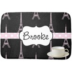 Black Eiffel Tower Dish Drying Mat (Personalized)