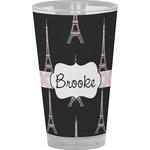 Black Eiffel Tower Drinking / Pint Glass (Personalized)