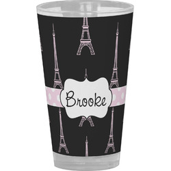 Black Eiffel Tower Drinking / Pint Glass (Personalized)