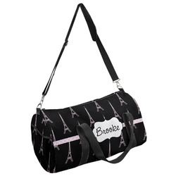Black Eiffel Tower Duffel Bag (Personalized)