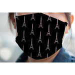 Black Eiffel Tower Face Mask Cover (Personalized)
