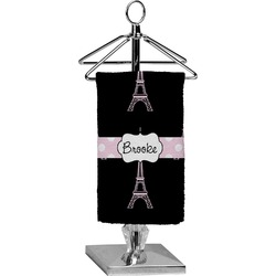 Black Eiffel Tower Finger Tip Towel - Full Print (Personalized)