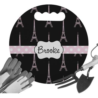 Black Eiffel Tower Gardening Knee Cushion (Personalized)