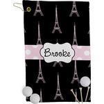 Black Eiffel Tower Golf Towel - Full Print (Personalized)
