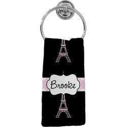 Black Eiffel Tower Hand Towel - Full Print (Personalized)