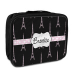 Black Eiffel Tower Insulated Lunch Bag (Personalized)