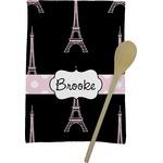 Black Eiffel Tower Kitchen Towel - Full Print (Personalized)