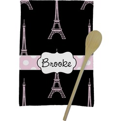 Black Eiffel Tower Kitchen Towel - Full Print (Personalized)
