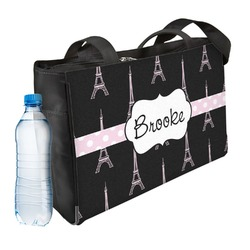 Black Eiffel Tower Ladies Workout Bag (Personalized)