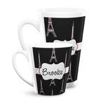 Black Eiffel Tower Latte Mug (Personalized)