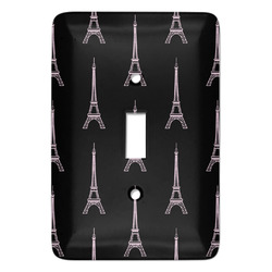 Black Eiffel Tower Light Switch Covers - Multiple Toggle Options Available (Personalized)