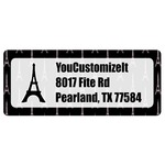 Black Eiffel Tower Return Address Labels (Personalized)