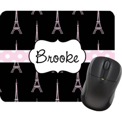 Black Eiffel Tower Mouse Pad (Personalized)