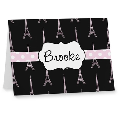 Black Eiffel Tower Note cards (Personalized)