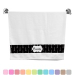 Black Eiffel Tower Bath Towel (Personalized)