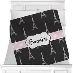 Black Eiffel Tower Blanket (Personalized)