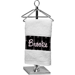 Black Eiffel Tower Finger Tip Towel (Personalized)