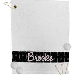 Black Eiffel Tower Golf Towel (Personalized)