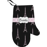 Black Eiffel Tower Right Oven Mitt (Personalized)
