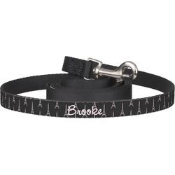 Black Eiffel Tower Dog Leash (Personalized)