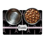Black Eiffel Tower Dog Food Mat (Personalized)