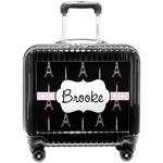 Black Eiffel Tower Pilot / Flight Suitcase (Personalized)