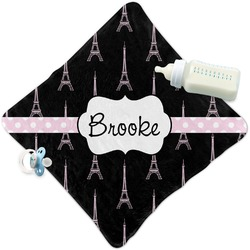 Black Eiffel Tower Security Blanket (Personalized)