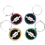 Black Eiffel Tower Wine Charms (Set of 4) (Personalized)
