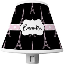 Black Eiffel Tower Shade Night Light (Personalized)