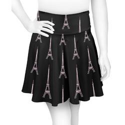 Black Eiffel Tower Skater Skirt (Personalized)