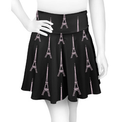 Black Eiffel Tower Skater Skirt (Personalized)