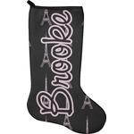Black Eiffel Tower Holiday Stocking - Neoprene (Personalized)