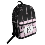 Black Eiffel Tower Student Backpack (Personalized)