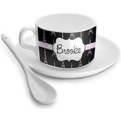 Black Eiffel Tower Tea Cups (Personalized)