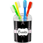 Black Eiffel Tower Toothbrush Holder (Personalized)